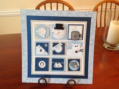 This is the winter shadow box that we basically copied from the Penguin Stamper.  Www.penguinstamper.com