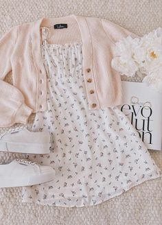 Be a Wildflower White Floral Print Tie-Strap Mini Dress Girl Outfits DRESS Floral Mini print TieStrap White Wildflower Cute Casual Outfits, Girly Outfits, Mode Outfits, Cute Summer Outfits, Retro Outfits, Stylish Outfits, Hipster Outfits, Summer Clothes For Girls, Teen Girl Clothes