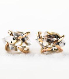 Hulama (hoo LA ma) - rising light.    Stunning Herkimer diamond stud earrings. These are gorgeous Herkimer diamond gemstones from Middleville, NY.
