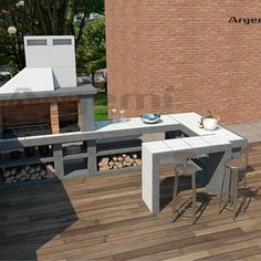 Barbacoas a medida archivos - Argemi PrefabricatsArgemi Prefabricats Parrilla Exterior, Barbecue Design, Outdoor Oven, Outdoor Furniture Sets, Outdoor Decor, Firewood, This Is Us, Home Decor, Kitchen