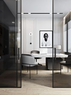 The Modern Office. – Executive Home Office Design Corporate Office Design, Modern Office Design, Office Interior Design, Home Office Decor, Office Interiors, Home Decor, Office Ideas, Law Office Design, Corporate Interiors