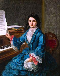 """Antonio Gómez Cros, """"Niña al piano"""" (""""Girl at the Piano"""")"""