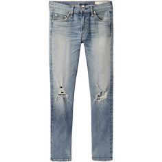 Rag & Bone Jean Skinny Capri Jean ($220) ❤ liked on Polyvore