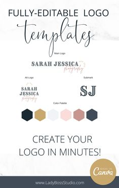 Fully-Editable Logo Templates! Create your logo in minutes! This Vintage Website Branding Kit will provide you with exactly what you need to take your brand, logo, and website to the next level! Check them out now! Branding Kit, Business Branding, Indesign Templates, Logo Templates, Business Profile, Pinterest For Business, Creating A Brand, Virtual Assistant, Make Money Blogging