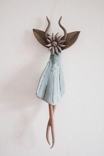 Handmade clay fairy wind chimes by Marymentclayworks on Etsy