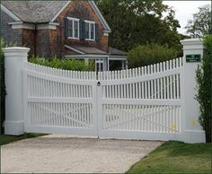 Cellular PVC Chestnut Hill Entrance Gate | Entrance Gates, Wood Gates, and more from Walpole Woodworkers