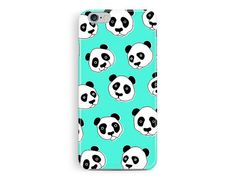 Panda Phone case, Kawaii iPhone Case, Apple iPhone Case, Cute illustration, Chinese iPhone Case, Animal Lover Phone Cover, wwf phone case,