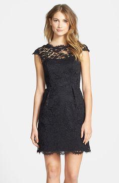 Shoshanna 'Olivia' Lace Sheath Dress for the wedding guest