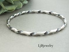 Handmade sterling silver bangles, gemstone bracelets and cuffs. Created by LjBjewelry Solid Silver Bangles, Silver Bangle Bracelets, Ankle Bracelets, 925 Silver, Silver Jewellery Indian, Gold Jewellery, Handmade Silver Jewellery, Egyptian Jewelry, Jewellery Shops