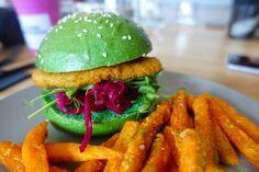 Photo of Melbourne Food Porn Festival - South Melbourne Victoria, Australia. Matcha Mlykbar. Soy burger