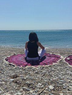 Summer Time!! Yoga, Meditation and Beach :) #yoga #meditation #beach #summer #summertime #mithiandbillu #mandala #roundie #hangings #bohochic #boho #bohostyle #meditate