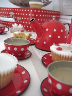 Red Tea Party Set from Jelly and Blancmange.co.uk