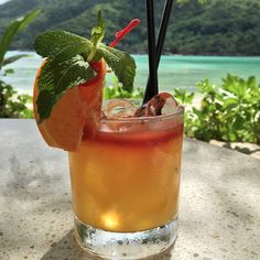 Creole Smash: This cocktail, native to Seychellois features both muddled orange and lemon. Served with ginger ale, takamaka dark and grand marnier. Angoustra bitters is optional but highly recommended. Try this cocktail at Constance Ephélia, Seychelles.