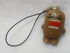 Funny kawaii Silly mustashe Domo kun cell phone strap accessory