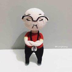 Học cách móc ông huấn luyện viên bóng đá Park Hang-seo của tác giả Hương Hoàng Crochet Amigurumi Free Patterns, Crochet Chart, Crochet Toys, Free Crochet, Kawaii Crochet, Cuddling, Crochet Projects, Charts, Hang