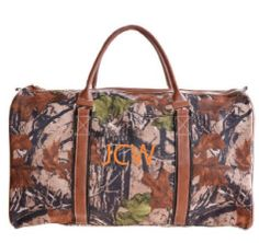 Mens Monogram Camo Duffle Bag Simply Southern Monograms