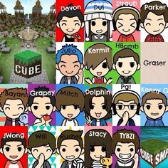 Cube Members.LITERALLY 3 IF MY FAVORITE THINGS! Cube smp grapeapplesauce/grapey and hbomb94/charizard