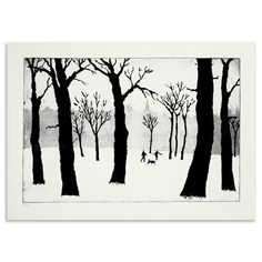 Tim Southall - A Walk in The Snow, Limited Edition Aquatint, 20x30cm, $185 !!