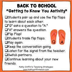 Kathy Griffin's Teaching Strategies: Teaching Students to Ask and Answer Questions