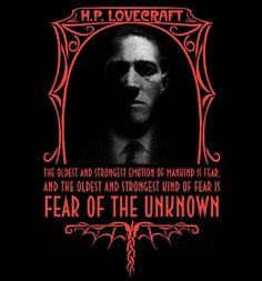 HP Lovecraft Fear of the Unknown, unisex tshirt, size Hp Lovecraft, Lovecraft Cthulhu, Necronomicon Lovecraft, Yog Sothoth, Call Of Cthulhu Rpg, Lovecraftian Horror, Fear Of The Unknown, Dark Quotes, Arte Horror