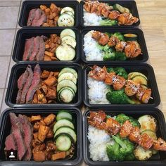 """Here's a nice prep by @broskibrian that came out looking strongggg! Steak, sweet potatoes, with zucchini & chicken skewers with rice and broccoli. -…"""