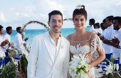 O casamento de Isabeli Fontana e Di Ferrero nas Maldivas