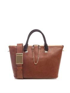 Baylee bi-colour leather tote | Chloé | MATCHESFASHION.COM