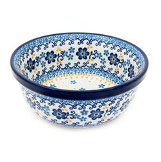 Polish Pottery Handmade 18 oz 6'' Berry Cereal Bowl Pattern 209-2650
