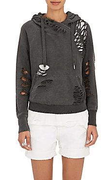 Distressed French Terry Sweatshirt