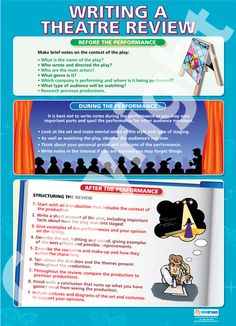 Writing a Theatre Review | School Charts | Educational Posters