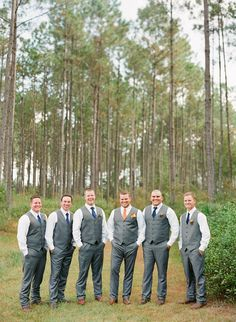 Rustic Navy & Orange Florida Wedding | Every Last Detail