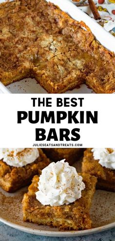 Looking for an easy healthy pumpkin bars recipe? Go ahead and make these simple pumpkin pie for a Thanksgiving treat! This pumpkin bar has a delicious batter crust and creamy pumpkin pie filling topped with cake mix. bars, THE BEST PUMPKIN BARS Thanksgiving Desserts Easy, Easy Holiday Recipes, Fall Dessert Recipes, Easy Desserts, Delicious Desserts, Healthy Desserts, Thanksgiving Quotes, Easy Pumpkin Recipes, Thanksgiving Outfit