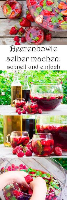 Cool summer drinks - simple cocktails for kids (and mom .- Coole Sommerdrinks – einfache Cocktails für Kinder (und Mamas) – MamaKreativ Make berry punch yourself – fast and easy. Recipes for refreshing soft drinks and cocktails for the summer - Cocktail Simple, Cocktail Menu, Signature Cocktail, Cocktail Recipes, Fresco, Berry Punch, Beach Cocktails, Schnapps, Non Alcoholic