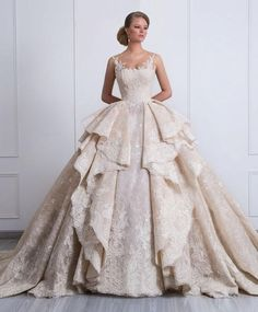 2017 New Design Ball Gown Wedding Dresses With Overskirts Lace Appliques Sparkle Rhinstone Bridal Gowns Dubai Vestidos De Novia Custom Made Country Wedding Dresses, Black Wedding Dresses, Bohemian Wedding Dresses, Cheap Wedding Dress, Bridal Dresses, Gown Wedding, Backless Wedding, Bling Wedding, Rustic Wedding