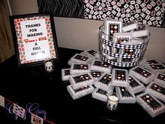 """Thanks for making my 40th a Full House"" personalized deck of cards favors"