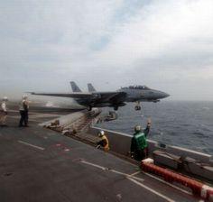 F-14 catapult lift off