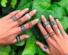 >>>Pandora Jewelry OFF! Beaded Jewelry Patterns, Bracelet Patterns, Beading Patterns, Peyote Stitch Patterns, Peyote Beading, Bead Jewellery, Seed Bead Jewelry, Beaded Rings, Loom Bracelets