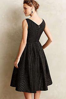 Anthropologie - Embossed Jacquard Party Dress