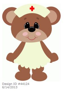 Teddy Bear ~ Nurse bear nursing by Stinkin Cute Paper Piecings
