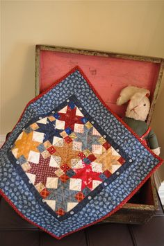 Mini Quilt based on a quilt in Kathy Tracy's The Civil War Sewing Circle