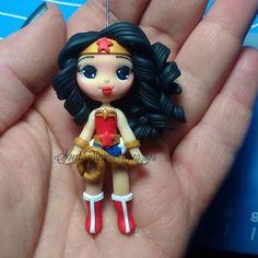 Wonder woman biscuit clay