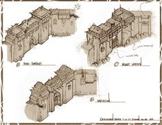 ArtStation - Early Age Of Empires Castle Siege Concept sketches, David Cameron Sloan