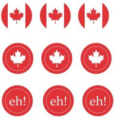 Free Printable Canada Day Cupcake Toppers – Get Freebie Print on white paper and glue onto construction paper, or print right on white construction paper Tape or glue on toothpicks or sticks – double side if desired Stick into Cupcakes