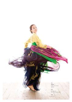 Colourful hanbok Korean fashion