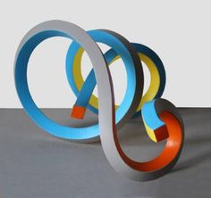Buy Streamer 33, a Metal on Iron by Frans Muhren from Netherlands. It portrays: Abstract, relevant to: red, blue, ombre, curves, movement, orange Massive iron bars (20mm square) shaped in form with heat, painted in acrylic.
