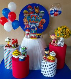 Paw Patrol Birthday Decorations, Paw Patrol Birthday Theme, 1st Boy Birthday, 4th Birthday Parties, Paw Patrol Cake Toppers, Sailor Party, Monster 1st Birthdays, Lucca, Baby