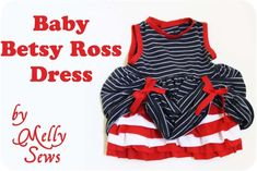 Betsy Ross Baby - Melly Sews, Adult t-shirt into cute girl dress