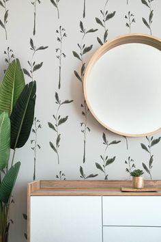Farmhouse Floral | Flowers Wallpaper Roll Decor | Flowers Wall Stickers | Wallpaper Mural Removable | Kitchen Living Room
