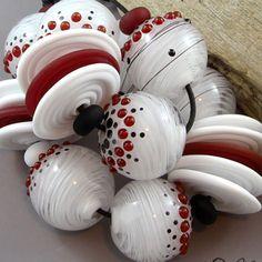 Magma Beads ~Amour~ Handmade Lampwork Beads. #Lampwork