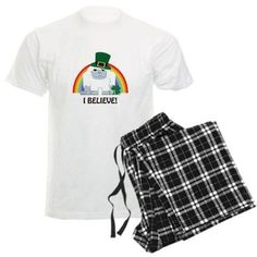 I Believe! Leprechaun Yeti Pajamas on CafePress.com